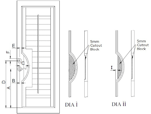 French Door Cut Out – Curved