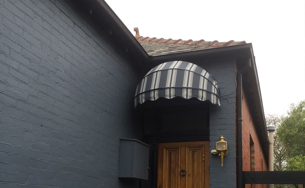image of gray bow awning